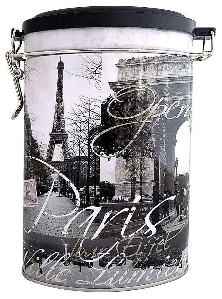 Cutie metal ovala Paris cu mecanism inchidere
