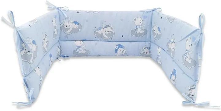 Aparatoare patut 120x60 cm Teddy Bears On Clouds Blue Qmini
