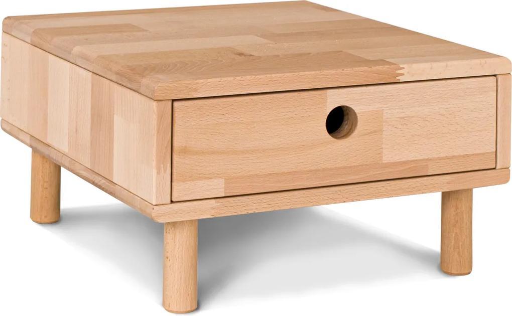Noptiera din lemn de fag Cone 40x40x24 cm