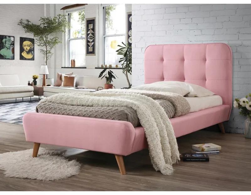 Pat Alivia roz din stofa - 90 x 200 cm