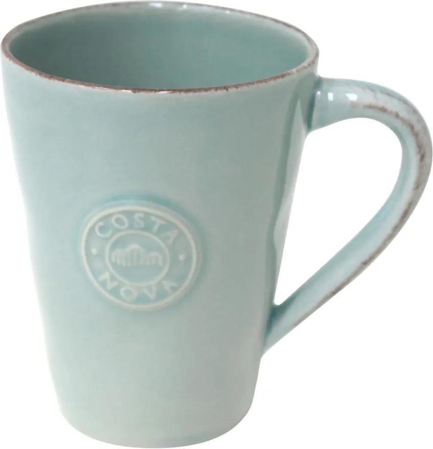 Cană din gresie ceramică Costa Nova Blue, 350 ml, turcoaz