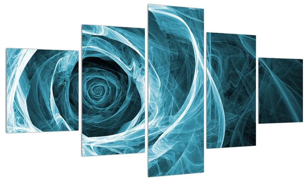 Tablou abstract cu trandafirul albastru (K012210K12570)