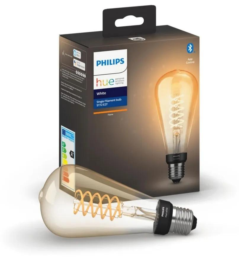 LED Bec dimmabil Philips HUE WHITE FILAMENT ST72 E27/7W/230V 2100K
