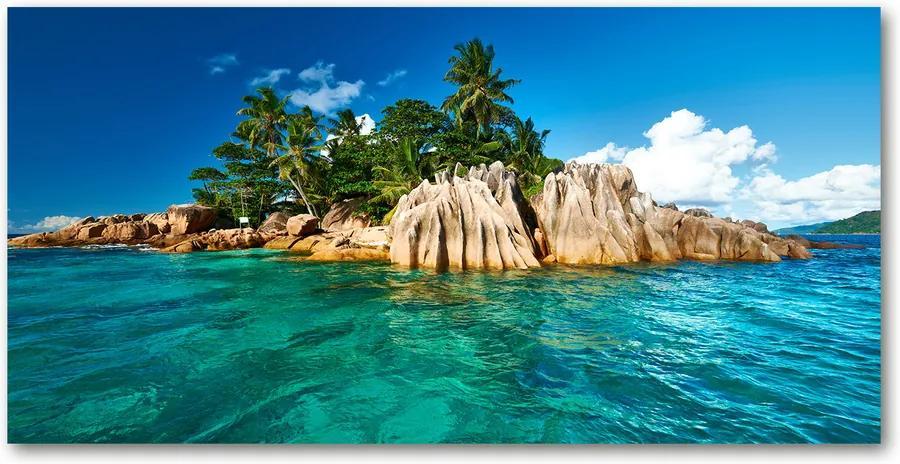 Tablou pe pe sticlă Insula tropicala