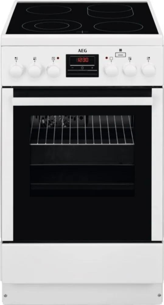 Aragaz electric AEG CCB56401BW, 50 cm, alb