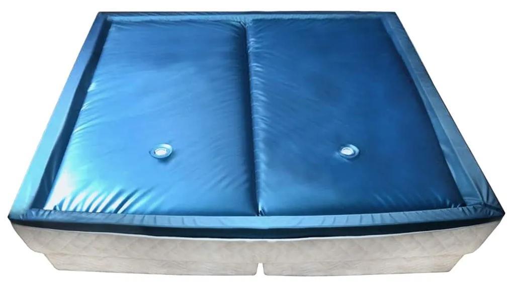 245672 vidaXL Set saltea pat cu apă cu căptușeală și separator 200x200 cm F3