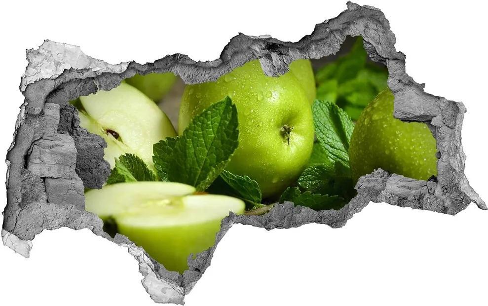 Samolepiaca nálepka betón Zelená jablká