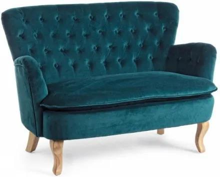 Canapea fixa tapitata cu stofa, 2 locuri Orlins Verde inchis, l114xA69xH79 cm