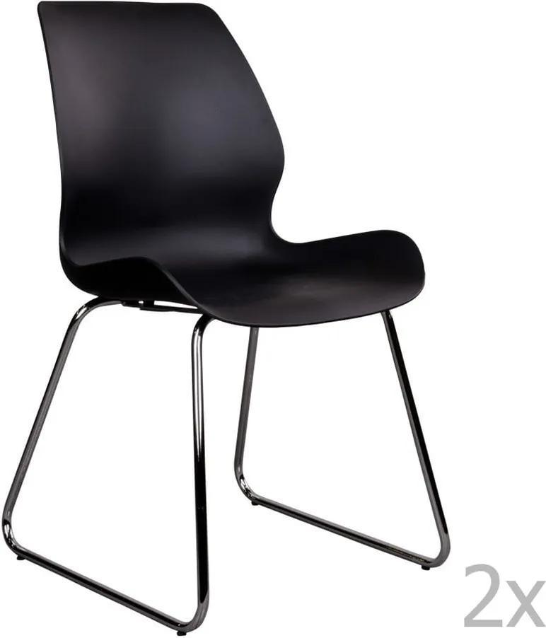 Set 2 scaune House Nordic Sola, negru