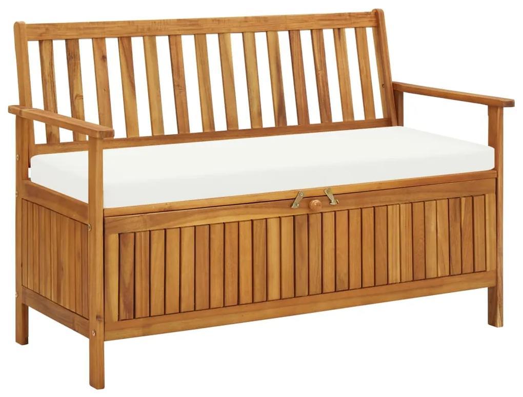 44126 vidaXL Bancă de depozitare grădină 120x63x84 cm lemn masiv salcâm XL
