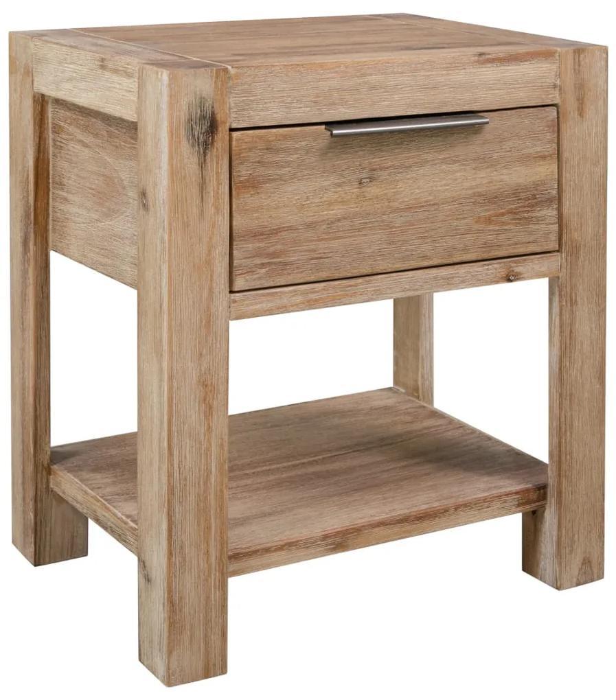 245683 vidaXL Noptieră cu sertar, 40x30x48 cm, lemn masiv de acacia
