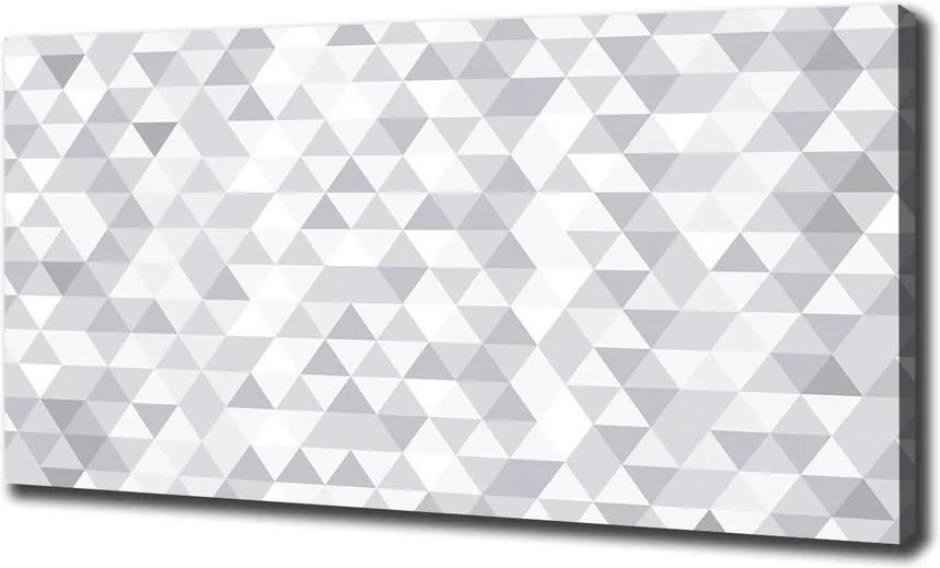 Tablou canvas Triunghiuri gri