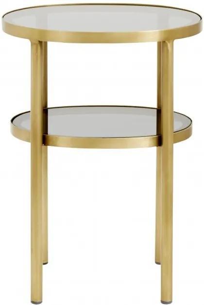 Masuta ovala Side Table Golden 35x40cm