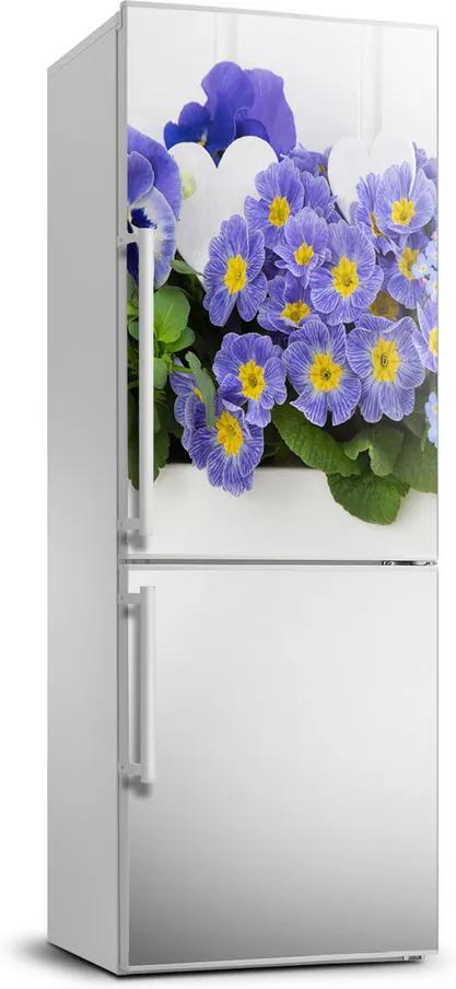 Autocolant frigider acasă Flori roșii