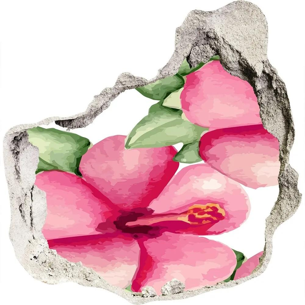 Autocolant gaură 3D Flori tropicale