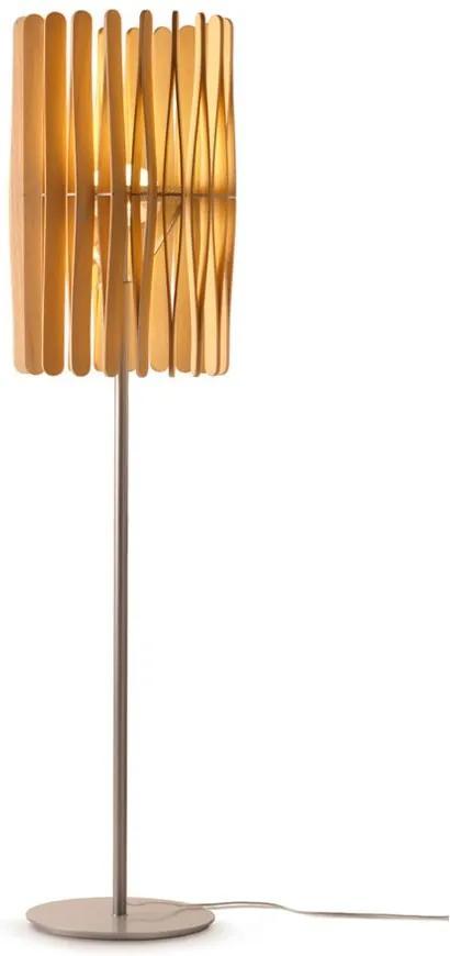 Stick C02 - Lampă de podea minimalistă cu abajur din lemn