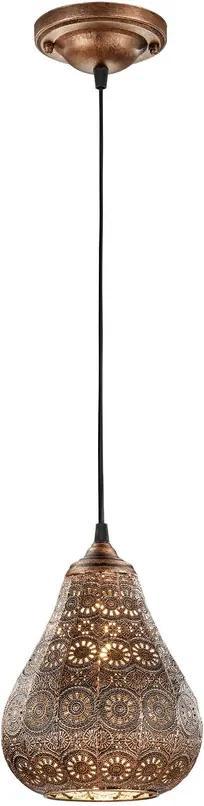 Trio JASMIN 303700162 Pendul cu 1 braț cupru antic excl. 1 x E14, max. 40W H:150cm, D:19cm,