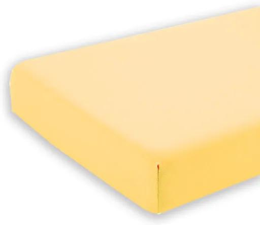 Cearceaf galben cu elastic pentru saltea 60 x 107 cm