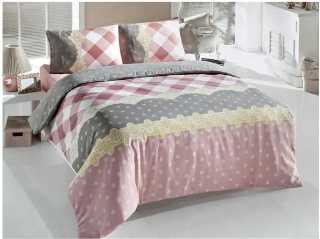 Lenjerie de pat cu cearșaf Ceylin, 200 x 220 cm