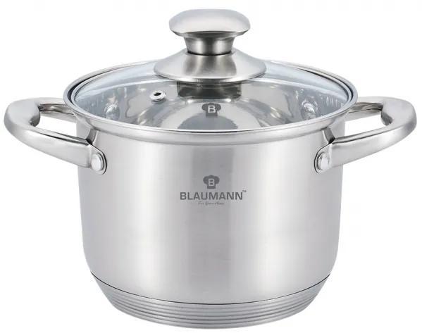 Oala cu capac otel inoxidabil 30 cm Satin Gourmet Line Blaumann BL 3318