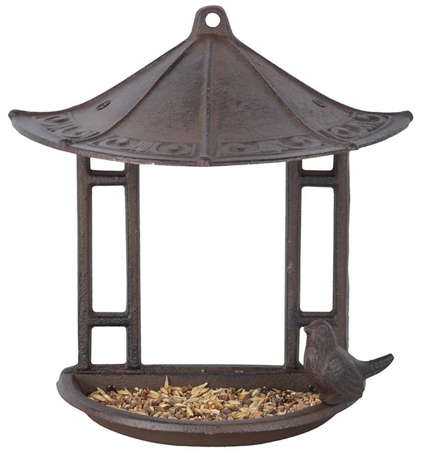 Hrănitoare semicirculară pentru păsări Esschert Design, înălțime 24,4 cm