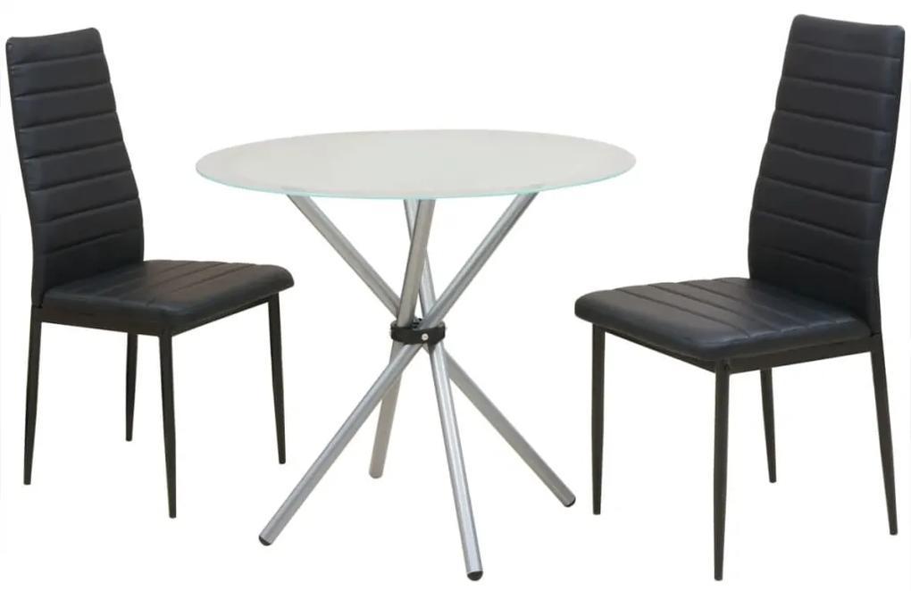 242936 vidaXL Set masă și scaune de bucătărie, 3 piese