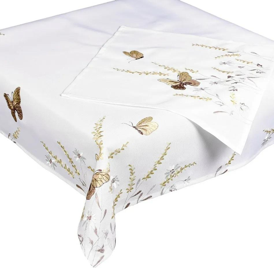 Față de masă Fluturi bej, 35 x 35 cm, 35 x 35 cm