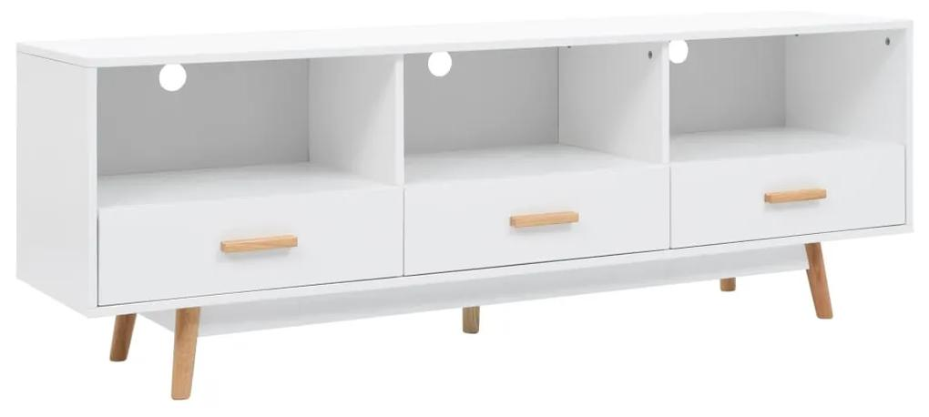 247611 vidaXL Comodă TV, alb, 160 x 40 x 55 cm, MDF