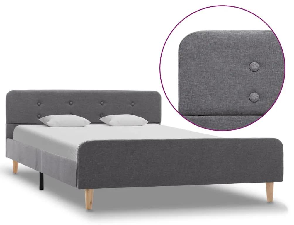 284902 vidaXL Cadru de pat, gri deschis, 120 x 200 cm, material textil