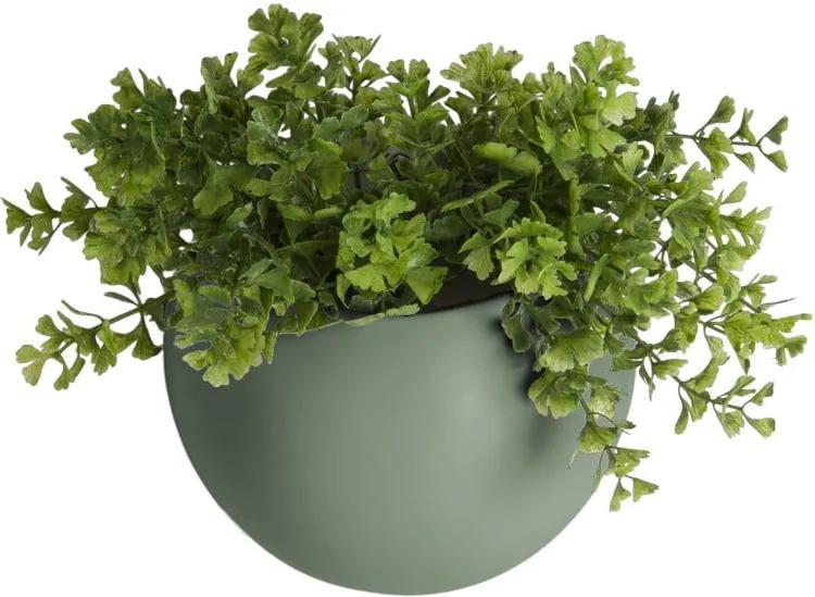 Ghiveci suspendat din ceramică PT LIVING Globe, verde mat