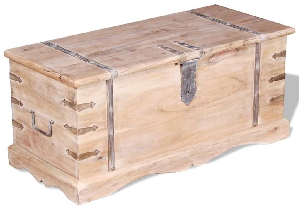 244053 vidaXL Cufăr din lemn de acacia