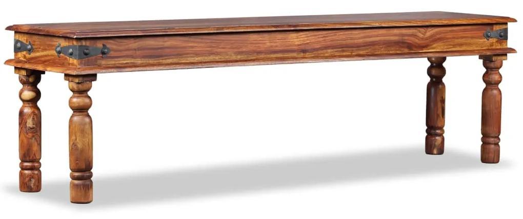 244353 vidaXL Bancă de castel, lemn masiv de sheesham, 160 x 35 x 45 cm