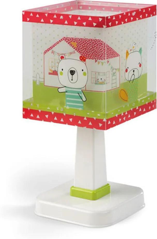 Dalber Sweet home 11671 Lampă de masă pentru copii alb rosu 1 x E14 max. 40W