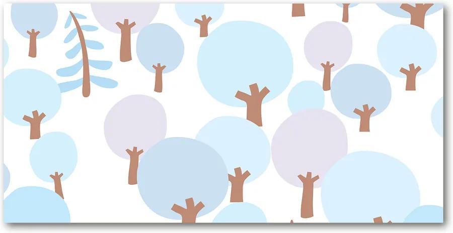 Fotografie imprimată pe sticlă Copaci colorate