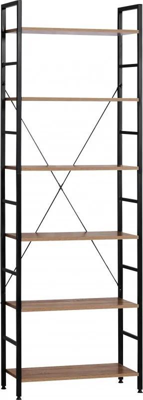 Etajera cu 6 rafturi metal,blat PAL,60 x 27.5 x 180 cm