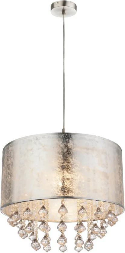 Globo AMY 15188H3 Pendul cu 1 braț nichel mat argintiu 1 x E27 max. 60w 140 x 40 x 40 cm