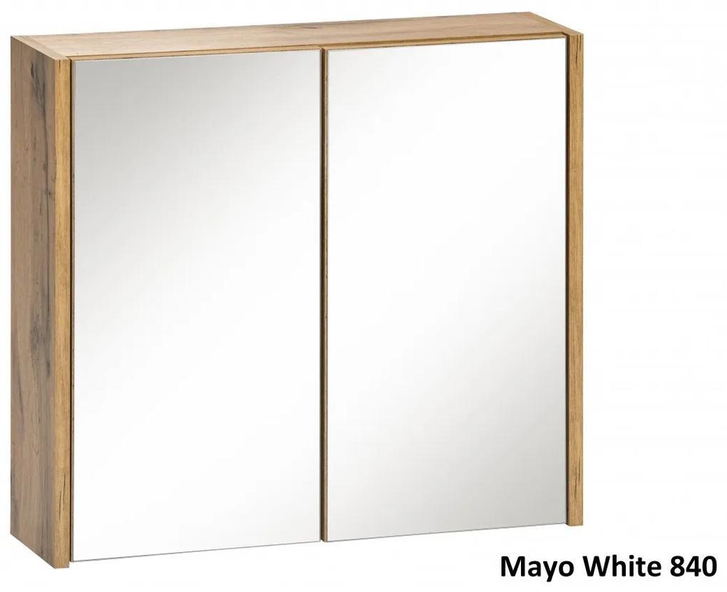Corp suspendat cu oglinda Mayo White Alb, stejar votan, 16 cm, 60 cm, 55 cm, Corp suspendat cu oglinda