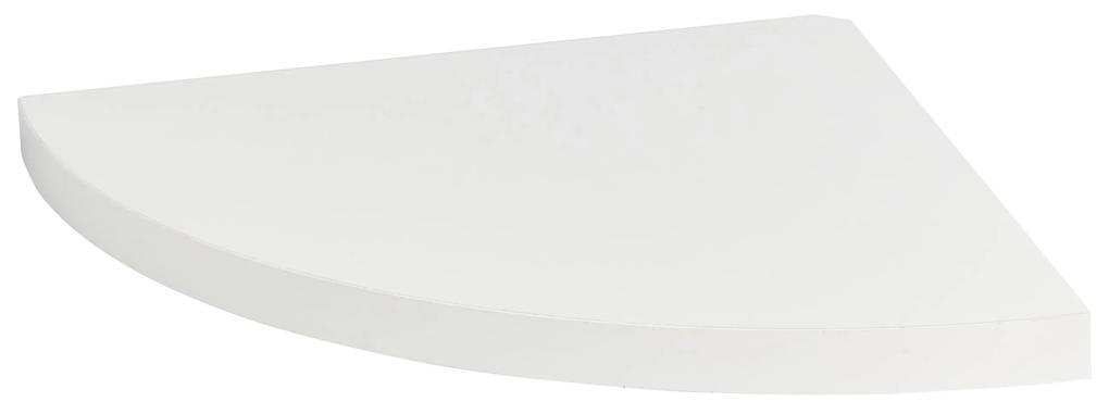 Raft de colt cu suport fixare ascuns, 25x25 cm, MDF Alb