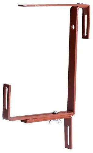 Suport metalic pentru ghivece de flori, set 2 bucati, maro teracota, Strend Pro