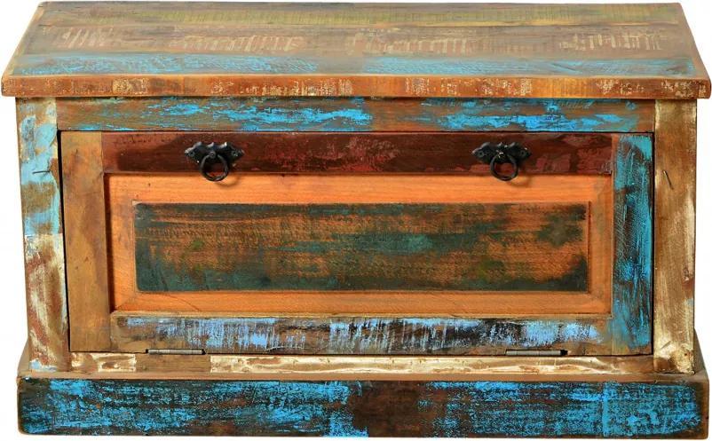 Pantofar din lemn reciclat Riverboat 85 x 40 x 45 cm, 6 perechi de pantofi