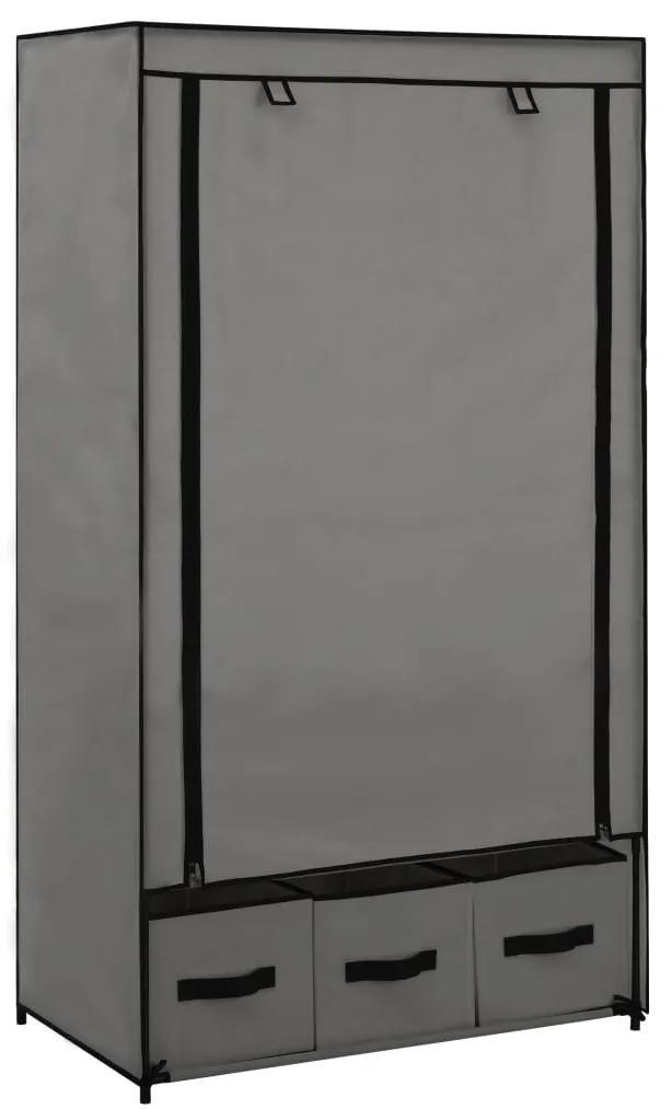 282460 vidaXL Șifonier, gri, 87 x 49 x 159 cm, material textil