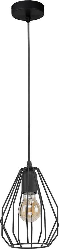 Lustra pe cablu BRYLANT BLACK 1xE27/60W/230V