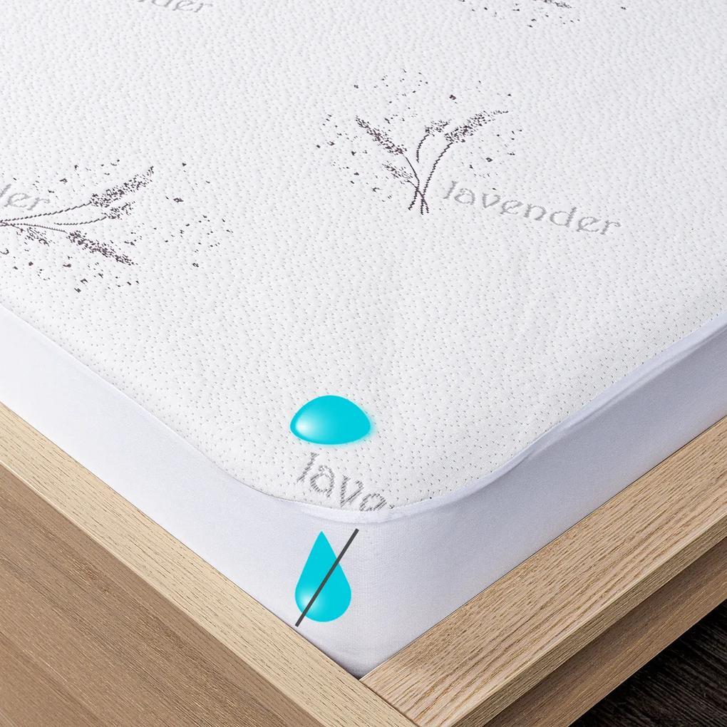 Protecție saltea 4Home Lavender impermeabilă cu bordură, 90 x 200 cm + 30 cm, 90 x 200 cm