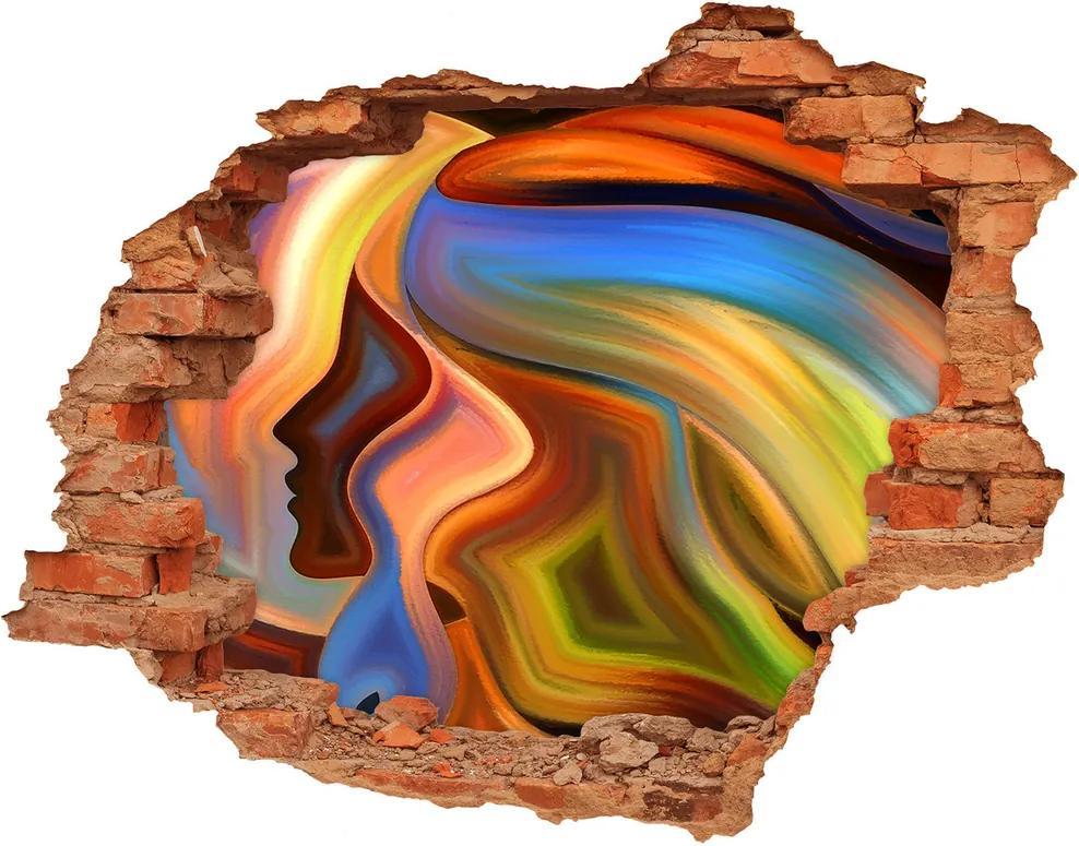 Autocolant 3D gaura cu priveliște Abstracțiune