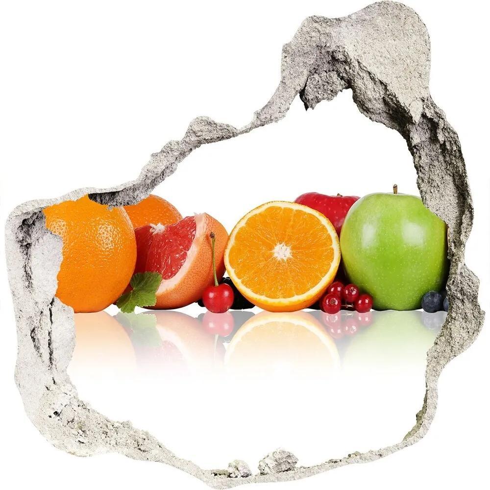 Fototapet un zid spart cu priveliște Fructe colorate