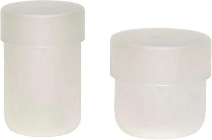 Set 2 recipiente din sticla Frost Hubsch
