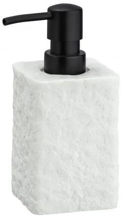 Dozator pentru sapun, din polirasina, Villata Alb, L7xl7xH15 cm