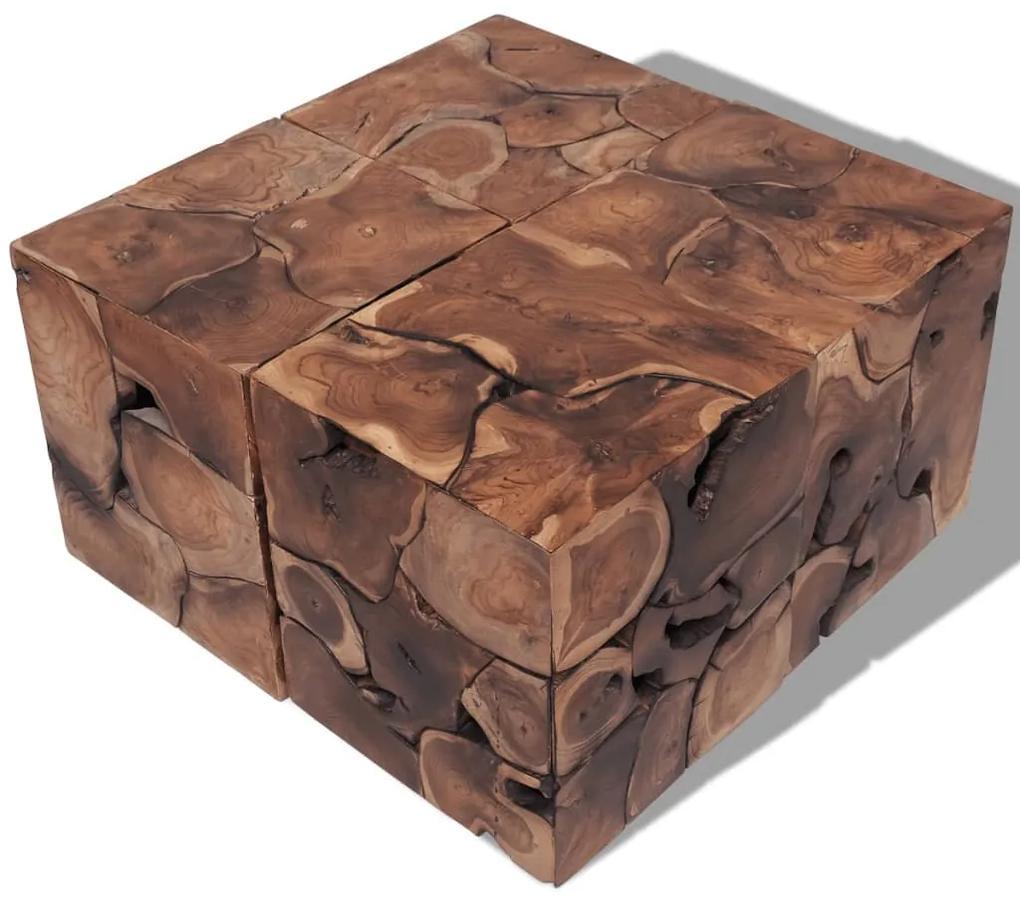 274356 vidaXL Taburete/Măsuță de cafea din lemn de tec masiv