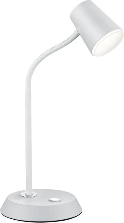 Trio 573190131 Lampi de masa LED NARCOS alb mat metal incl. 1 x SMD, 4,7W, 3000K, 470Lm 470lm 3000K IP20 A+