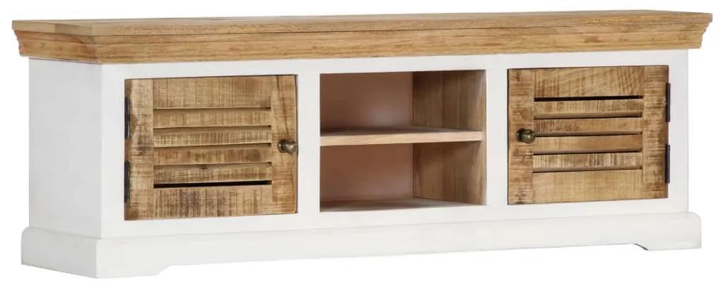 247970 vidaXL Comodă TV, 118 x 30 x 40 cm, lemn masiv de mango